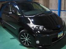 エスティマハイブリッド 2.4 アエラス レザーパッケージ 4WD HDDナビ5.1chリヤエンタ黒革WSR両電PBドア
