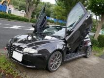 アルファ147 GTA セレスピード ガルウイング 社外マフラー 車高調