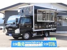 エルフ 移動販売車 キッチンカー コールドテーブル 2槽シンク 外部電源