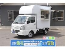 キャリイ 移動販売車 キッチンカー サイド・リア販売カウンター 2槽シンク
